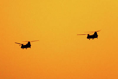 Photograph - Chinooks At Sunset by SR Green