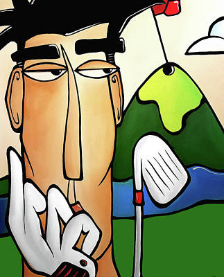 Painting - Chip And A Putt by Tom Fedro - Fidostudio