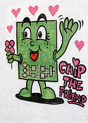 Painting - Chip The Friend by Munir Alawi