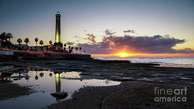 Photograph - Chipiona Lighhouse At Sunset Cadiz Spain by Pablo Avanzini