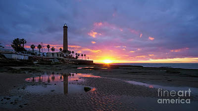 Photograph - Chipiona Lighthouse At Dusk Cadiz Spain by Pablo Avanzini