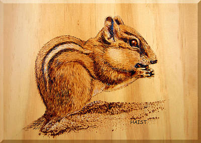 Pyrography - Chippies Lunch by Ron Haist