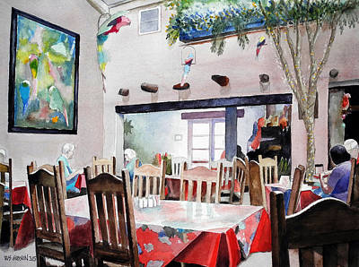 Snack Bar Painting - Chips And Salsa by Bill Gibson