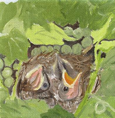Painting - Chirp by Barb Pennypacker