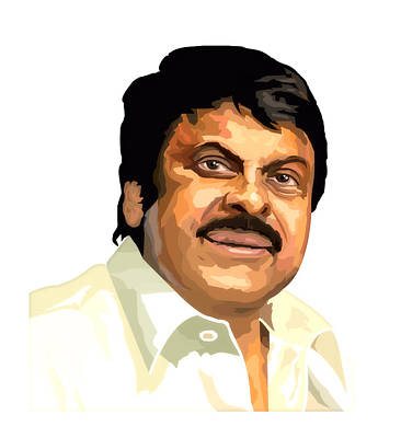 Digiatal Works Digital Art - Chiru Megastar by Venkat Meruvu