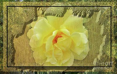Digital Art - Chiseled Rose by Victoria Harrington