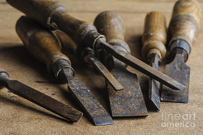 Photograph - Chisels by Trevor Chriss