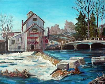 Ontario Painting - Chishom's Mill by Saga Sabin