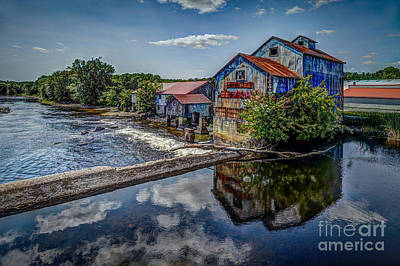 Chisolm's Mills Art Print by Roger Monahan