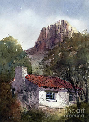 Painting - Chisos Basin Cabin by Tim Oliver