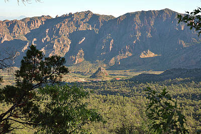 Photograph - Chisos Lodge From Pinnacles Trail by Alan Lenk