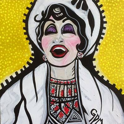 Harlem Painting - Chita Rivera In The Visit by Gdm