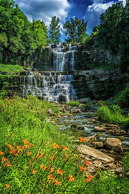 Photograph - Chittenango Falls State Park New York_dsc9011_16 by Greg Kluempers