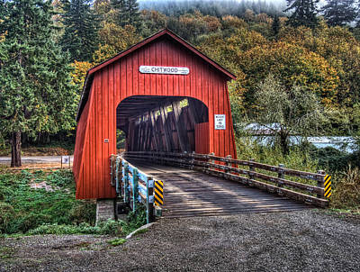 Photograph - Chitwood Covered Bridge by Thom Zehrfeld