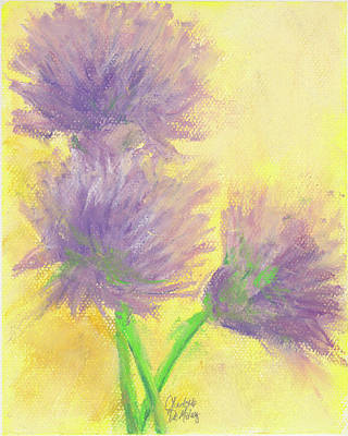 Pastel - Chive Blossoms by Charlotte B DeMolay