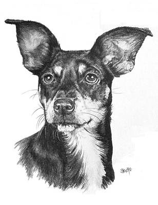 Chiweenie Art Print by Barbara Keith