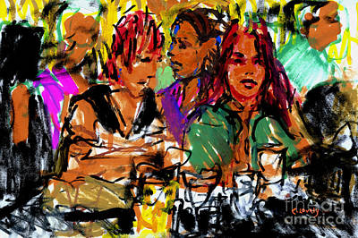 Painting - Chloe And Fiona At 211 by Candace Lovely