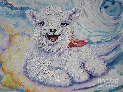 Painting - I  Meaning Me. Am  Chloe The Flying Lamb by Sigrid Tune