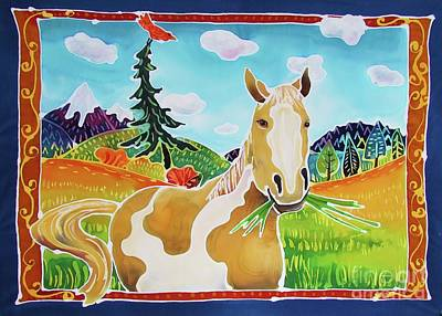 Chloe The Wild Mustang Art Print by Harriet Peck Taylor
