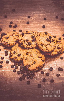 Tasty Photograph - Choc Chip Biscuits by Jorgo Photography - Wall Art Gallery