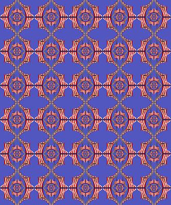 Digital Art - Chock A Block Blue by Deborah Runham