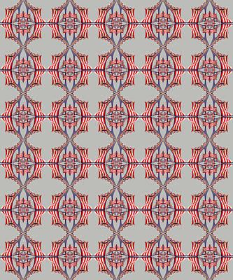 Digital Art - Chock A Block Grey by Deborah Runham