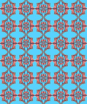 Digital Art - Chock A Block Light Turquoise by Deborah Runham