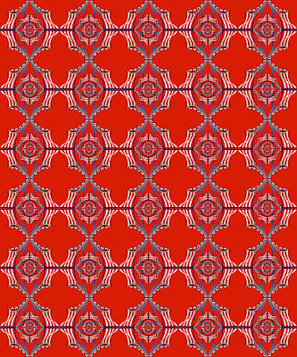 Digital Art - Chock A Block Red by Deborah Runham