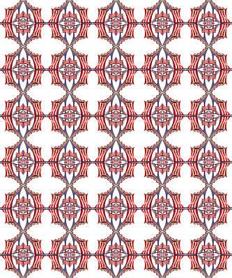 Digital Art - Chock A Block White by Deborah Runham