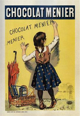 Mixed Media - Chocolat Menier - Chocolate Manufacturing Company - Vintage Advertising Poster by Studio Grafiikka