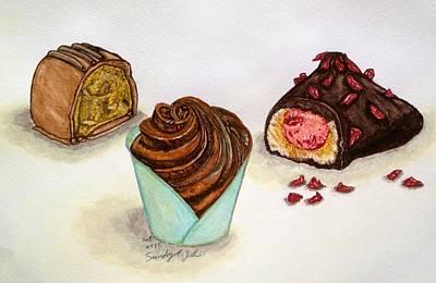 Tasty Drawing - Chocolate Addiction by Jo lan Tao