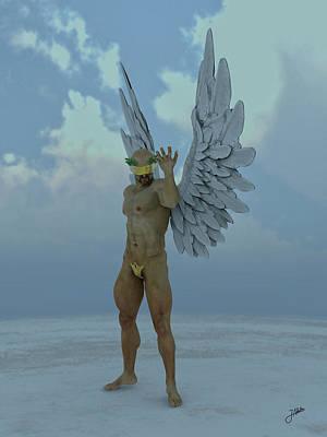 Seraphim Angel Digital Art - Chocolate Angel by Joaquin Abella