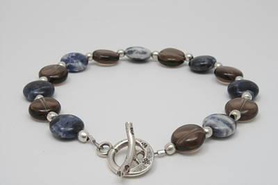 Sterling Silver Bracelet Jewelry - Chocolate Blueberry by Jerri Nielsen