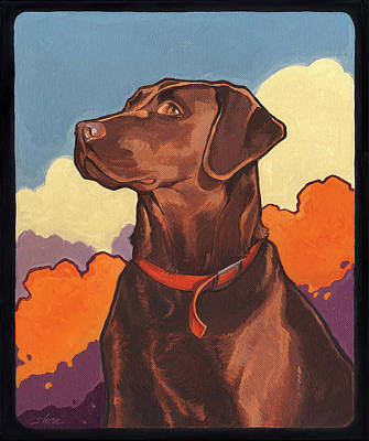 Chocolate Labrador Retriever Painting - Chocolate But Not Hershey by Shawn Shea