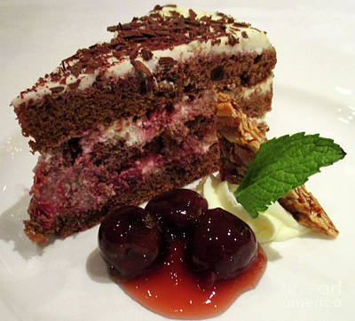 Photograph - Chocolate Cherry Cake by Randall Weidner