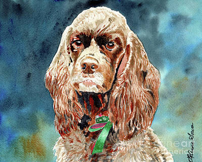 Painting - Chocolate Cocker Spaniel Sophie by LeAnne Sowa