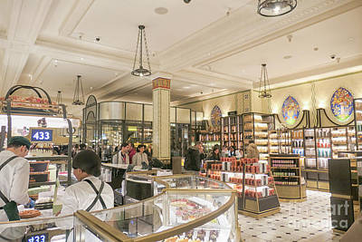 Photograph - Chocolate Counters At Harrods, London by Patricia Hofmeester