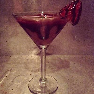 Martini Wall Art - Photograph - Chocolate Covered Strawberry Martini by Colleen Corbett
