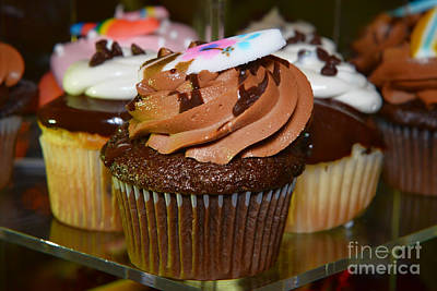 Photograph - Chocolate Cupcake by Olga Hamilton