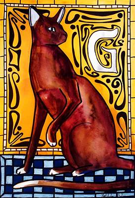 Painting - Chocolate Delight - Havana Brown Cat - Cat Art By Dora Hathazi Mendes by Dora Hathazi Mendes