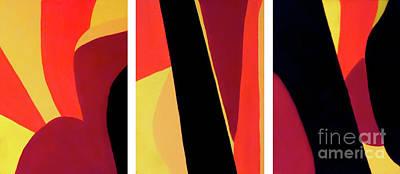 Espresso Painting - Chocolate Geometry Triptych 3 by Jilian Cramb - AMothersFineArt