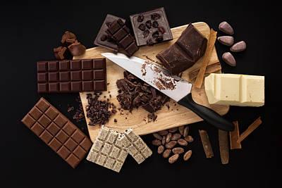 Snack Bar Digital Art - Chocolate Handmade Candies On A Kitchen Table by Valentin Valkov
