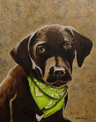 Chocolate Lab Art Print by Betty-Anne McDonald