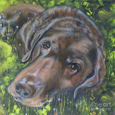Painting - Chocolate Lab by Susan A Becker