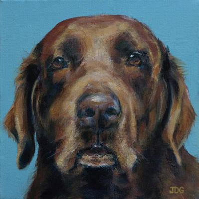 Chocolate Labrador Retriever Painting - Chocolate Labrador by Julie Dalton Gourgues