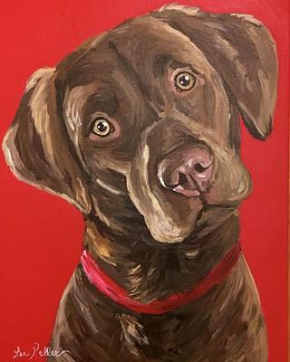Chocolate Labrador Retriever Painting - Chocolate Labrador Retriever Art by Lee Keller