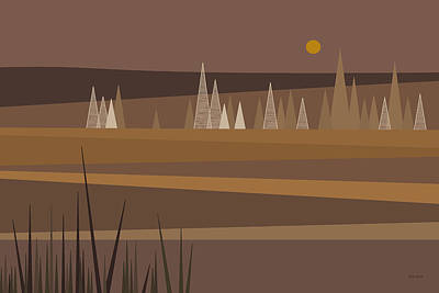 Digital Art - Chocolate Landscape by Val Arie