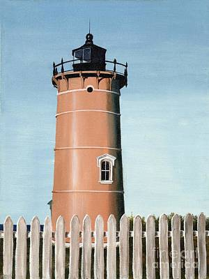 New England Lighthouse Painting - Chocolate Lighthouse by Mary Rogers