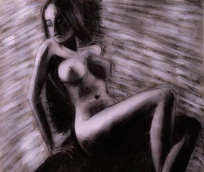 Painting - Chocolate Maiden by Jarko Aka Lui Grande