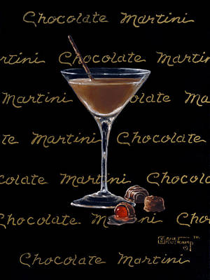 Stemware Painting - Chocolate Martini by Janet  Kruskamp